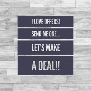 Accessories - I LOVE OFFERS! LETS MAKE A DEAL!